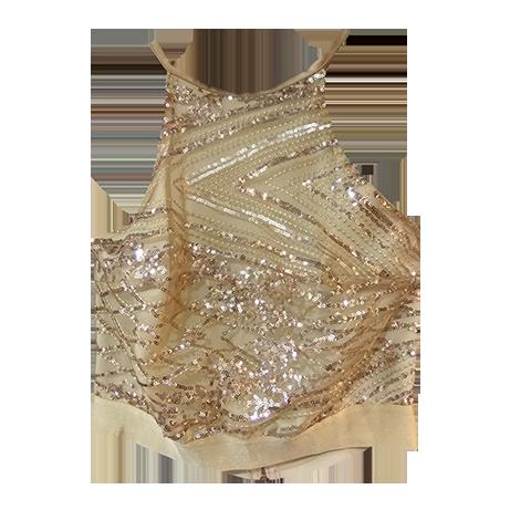 Maxi φούστα με χρυσό μπούστο
