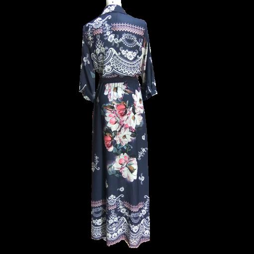 Maxi φόρεμα - πουκαμίσα με ζώνη