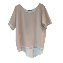 Two-color asymmetrical blouse