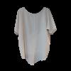 Two-color asymmetrical blouse