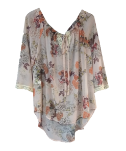 Έξωμη ασύμμετρη μπλούζα με λάστιχο