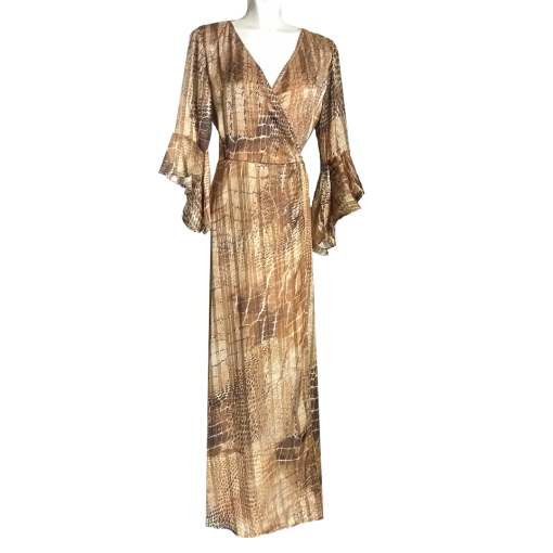 Maxi φόρεμα κρουαζέ με άνοιγμα