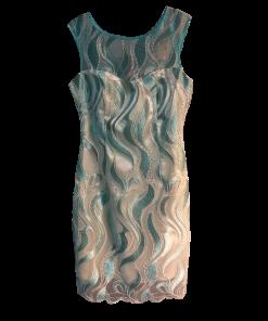 Κοντό φόρεμα με διαφάνεια σε ίσια γραμμή