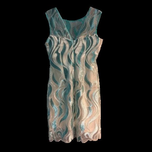 Short dress with transparent straight line