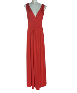 Maxi φόρεμα με κρουαζέ μπούστο και άνοιγμα