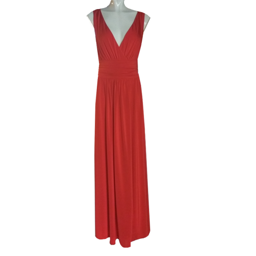 Maxi dress with crust bust and opening