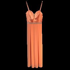 Maxi φόρεμα με πολύ λεπτές τιράντες
