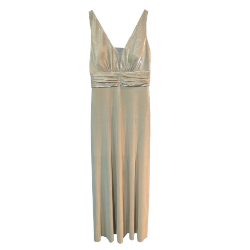 Maxi lourex dress with open back