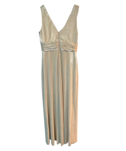 Maxi lourex φόρεμα με ανοικτή πλάτη