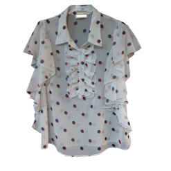 Womens short-sleeved white shirt