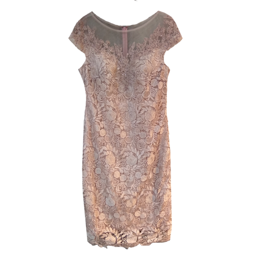 Midi dress with transparent and short sleeves