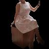 Κοντό φόρεμα ανάγλυφο σε Α γραμμή