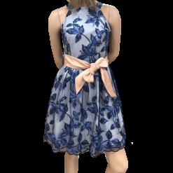 Mini φόρεμα Α γραμμή με παρτούς ώμους