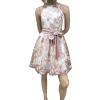 Mini φόρεμα με τούλι και παρτούς ώμους