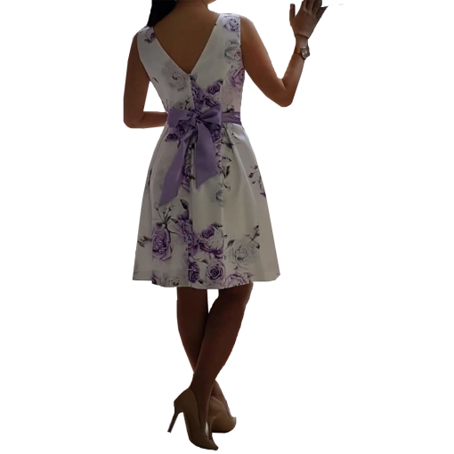 Mini floral φόρεμα σε Α γραμμή