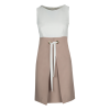 Short two-tone dress with cuff