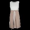Κοντό δίχρωμο φόρεμα με κουφόπιετα