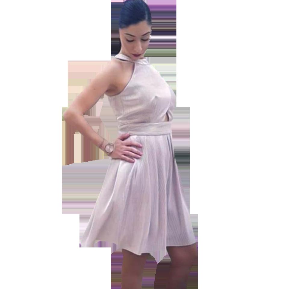 f66ec10c87c4 Mini dress with pockets and shoulders | Primadonna.com.gr