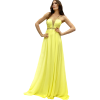 Maxi yellow dress with thin braces