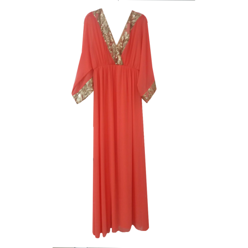 Maxi dress with golden detail