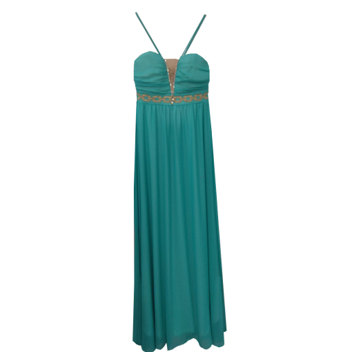 Maxi airy dress with thin braces