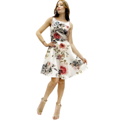Κοντό φλοράλ φόρεμα σε Α γραμμή
