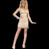 Κοντό φόρεμα δαντέλα με διαφάνειες