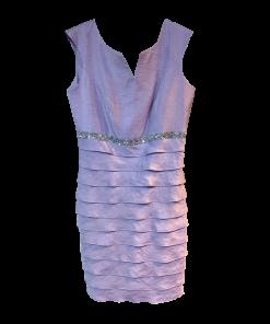 Κοντό φόρεμα αμάνικο με φύλλα