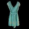 Κοντό φόρεμα με ασημί μανίκια και ζώνη