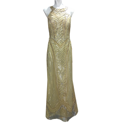 Maxi gold dress with impressive back