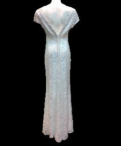 Maxi νυφικό φόρεμα με άνοιγμα