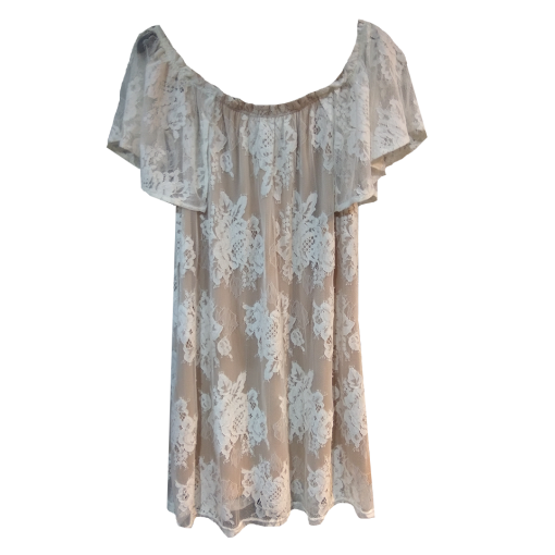 Mini boho out dress from lace