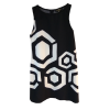 Short dress with geometric patterns