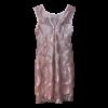 Κοντό φόρεμα με διαφάνεια σε ίσια γραμμή ροζ