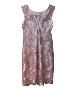 Short dress with transparent pink straight line