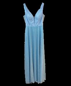 Maxi φόρεμα με διαφάνειες στα πλαινά σιελ