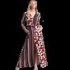 Maxi φόρεμα με ριγέ και πουά