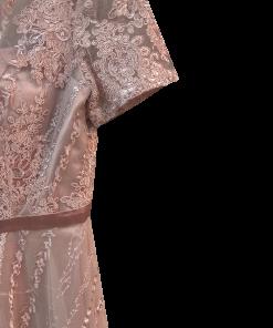 Midi lace dress in line A