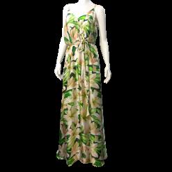 a1de70b0c546 Maxi σατέν φόρεμα με άνοιγμα μπροστά