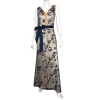 Maxi φόρεμα με ασημί παγιέτες