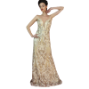 Maxi dress with gold lace