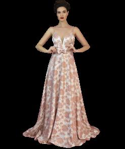 Maxi φόρεμα με διακοσμητικό φιόγγο