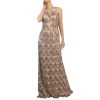 Maxi dress with paillettes