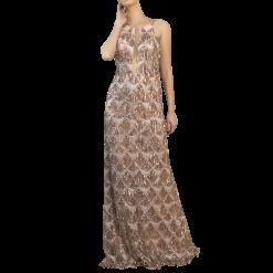Maxi φόρεμα με κρόσσια από παγιέτες