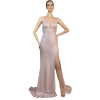 Εφαρμοστό maxi φόρεμα με σκίσιμο