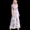 Maxi floral φόρεμα με ζώνη
