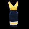 Κοντό αμάνικο πολύχρωμο φόρεμα