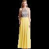 Maxi φόρεμα με στράς στο μπούστο και πιέτες