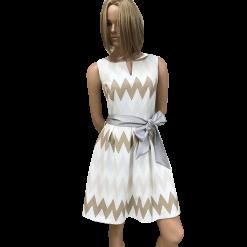 Ζικ ζακ κοντό φόρεμα σε Α γραμμή