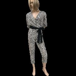 Leopar ολόσωμη φόρμα με μαύρη ζώνη